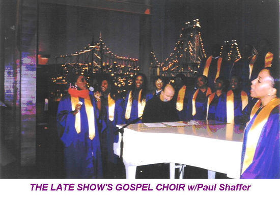 photo of THE LATE SHOW'S GOSPEL CHOIR