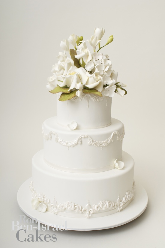 photo of wedding-cake-inspiration-Ron-Ben-Isreal-wedding-cakes-classic-white-3-tier
