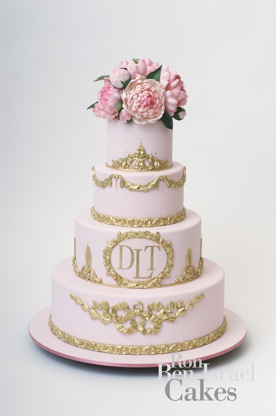 photo of wedding-cake-inspiration-Ron-Ben-Isreal-wedding-cakes-light-pink-gold