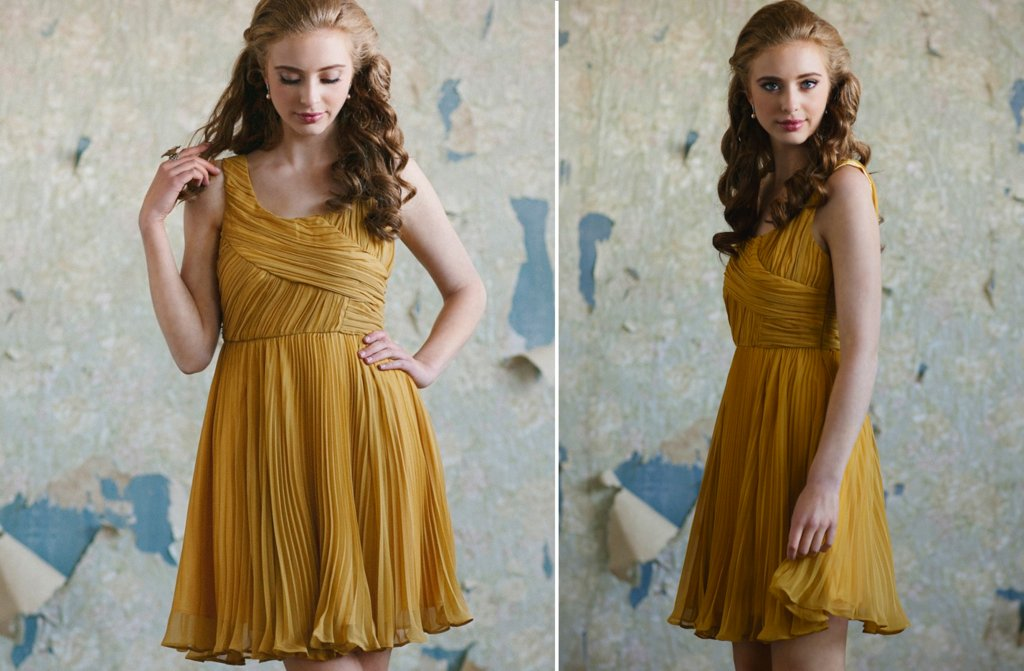 Ruche-bridesmaids-dresses-afforadable-stylish-bridal-party-attire-mustard.full