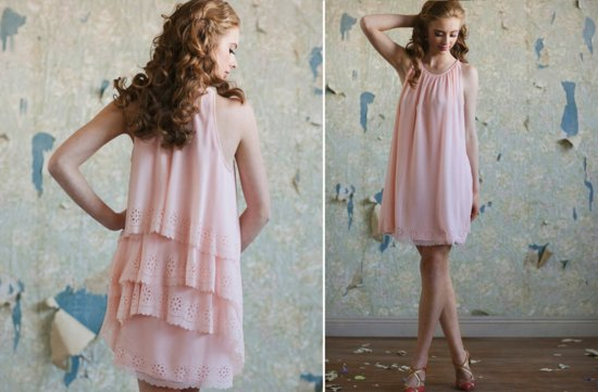 Ruche-bridesmaids-dresses-stylish-bridal-party-attire-petal-pink