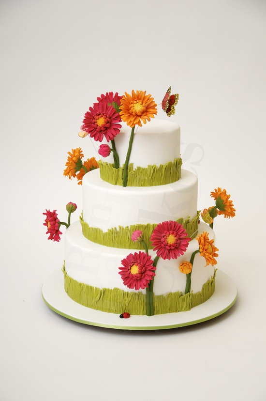 photo of wedding-cake-inspiration-Ron-Ben-Isreal-wedding-cakes-red-orange-green-spring