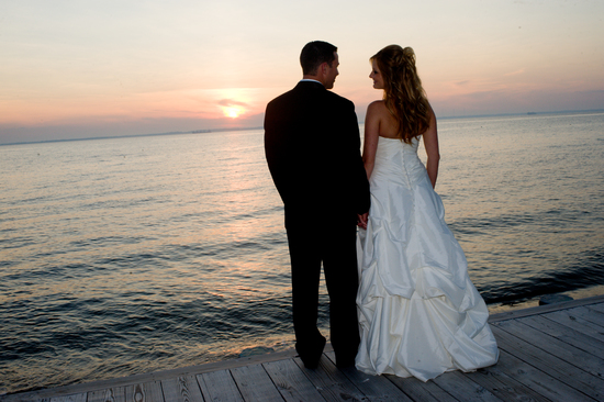 Bride and Groom at Sunset 2