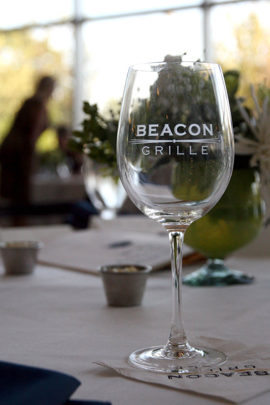 Beacon Grille wine glass