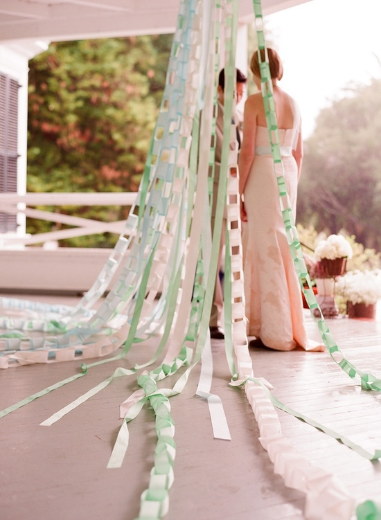 Mint and white wedding backdrop