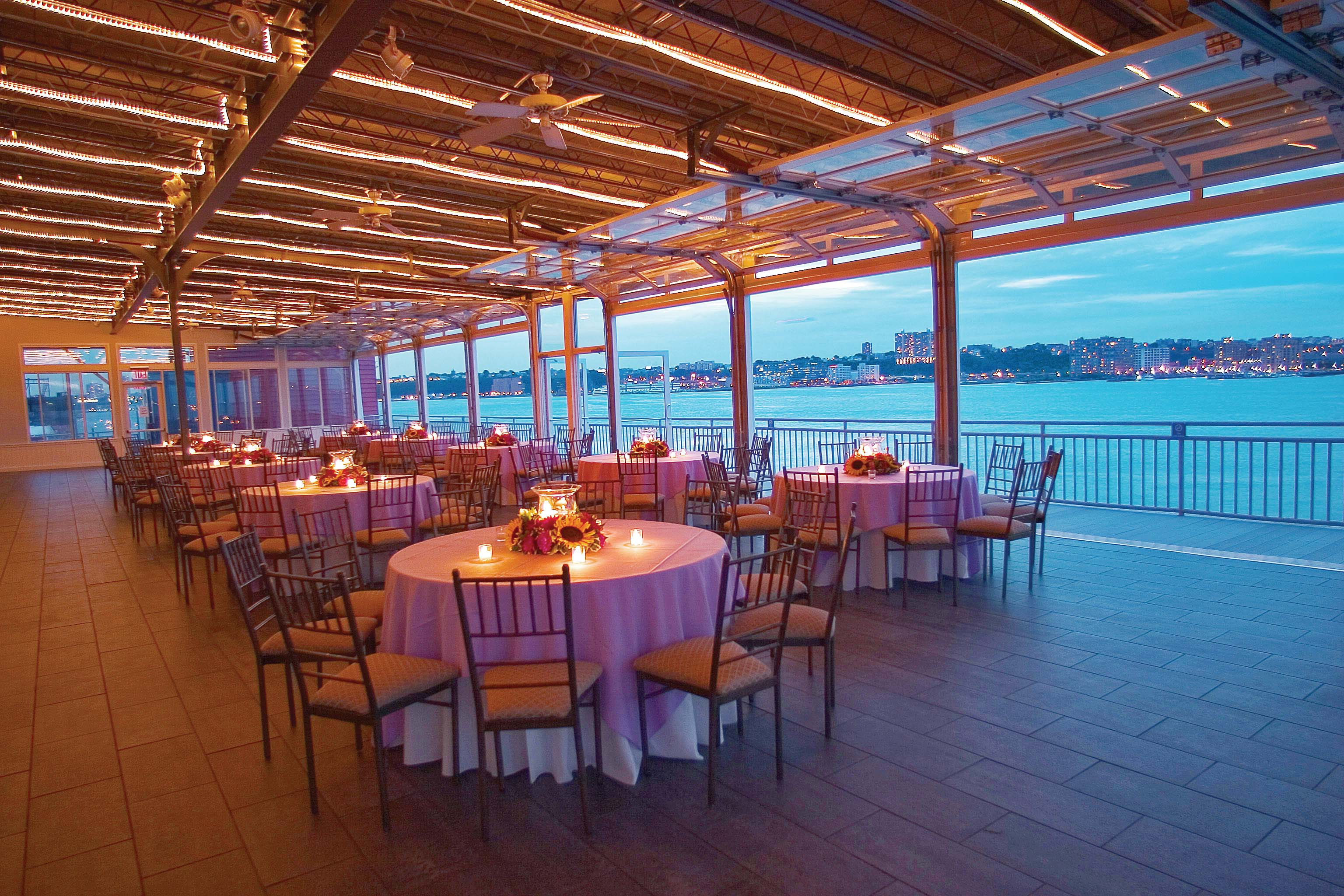 Chelsea piers sunset terrace for Terrace wedding