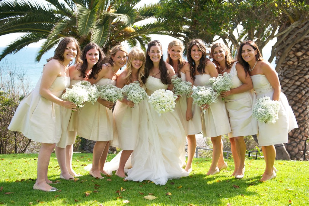 Bridesmaids on the grass - Tideline Photography