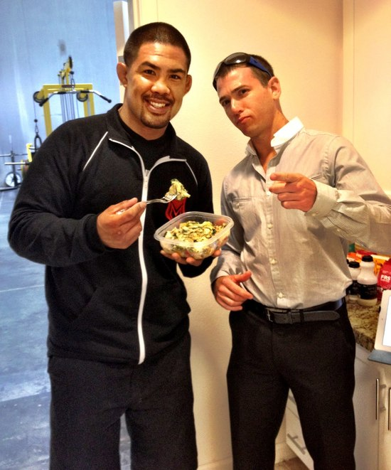 Breakfast for UFC Fighter Mark Munoz