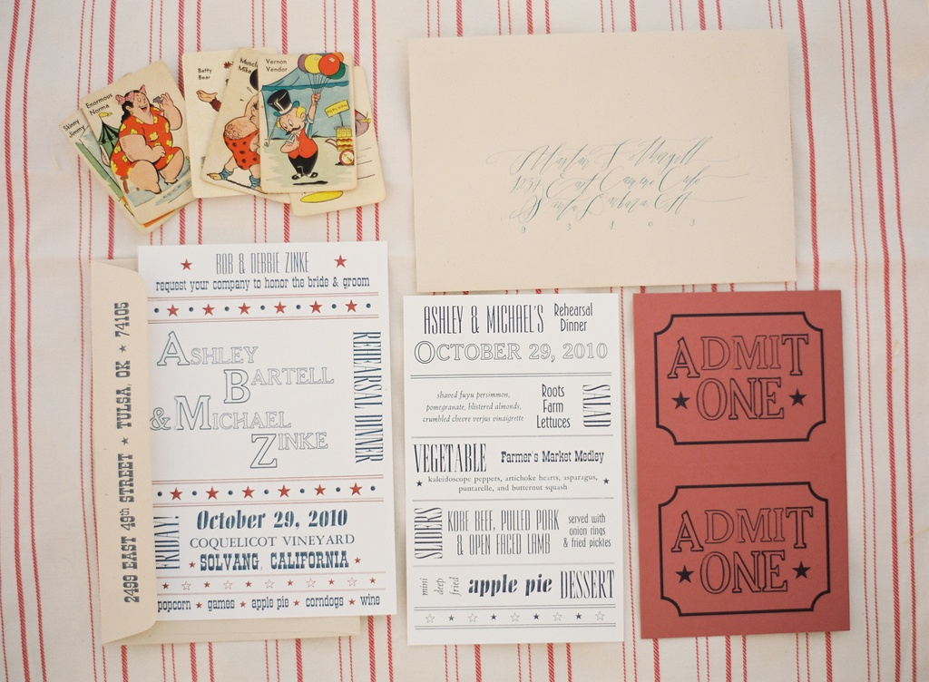 Santa-barbara-chic-wedding-california-jose-villa-state-fair-retro-invitations-circus-4.full