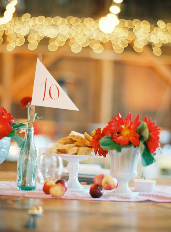State Fair Inspired Barn Table Setting