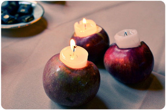 wedding DIYs that light things up apple votive holders