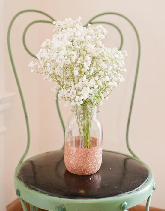 wedding DIY Glitter Vases 33