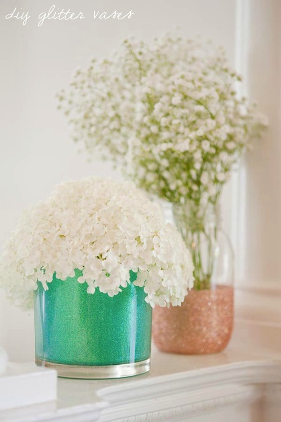 gorgeous wedding DIY projects Glitter Vases