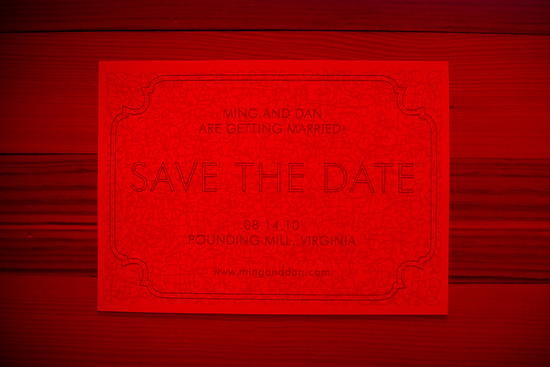 rad wedding save the date hidden message