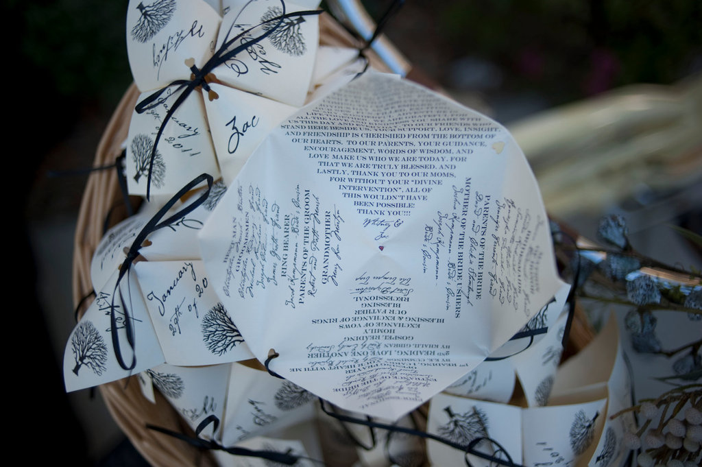 Unique Wedding Ceremony Programs Cootie Catcher 1