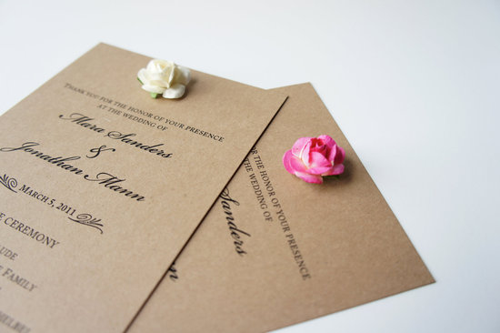 wedding invitation inspiration ceremony program weddings by Etsy rose embellished