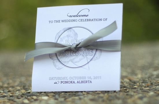 wedding invitation inspiration ceremony program weddings by Etsy gray purple
