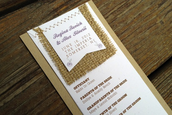 wedding invitation inspiration ceremony program weddings by Etsy rustic burlap