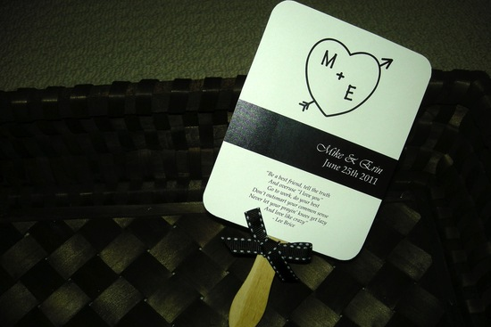 wedding invitation inspiration ceremony program weddings by Etsy black white heart