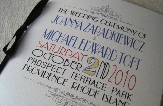 wedding invitation inspiration ceremony program weddings by Etsy art deco
