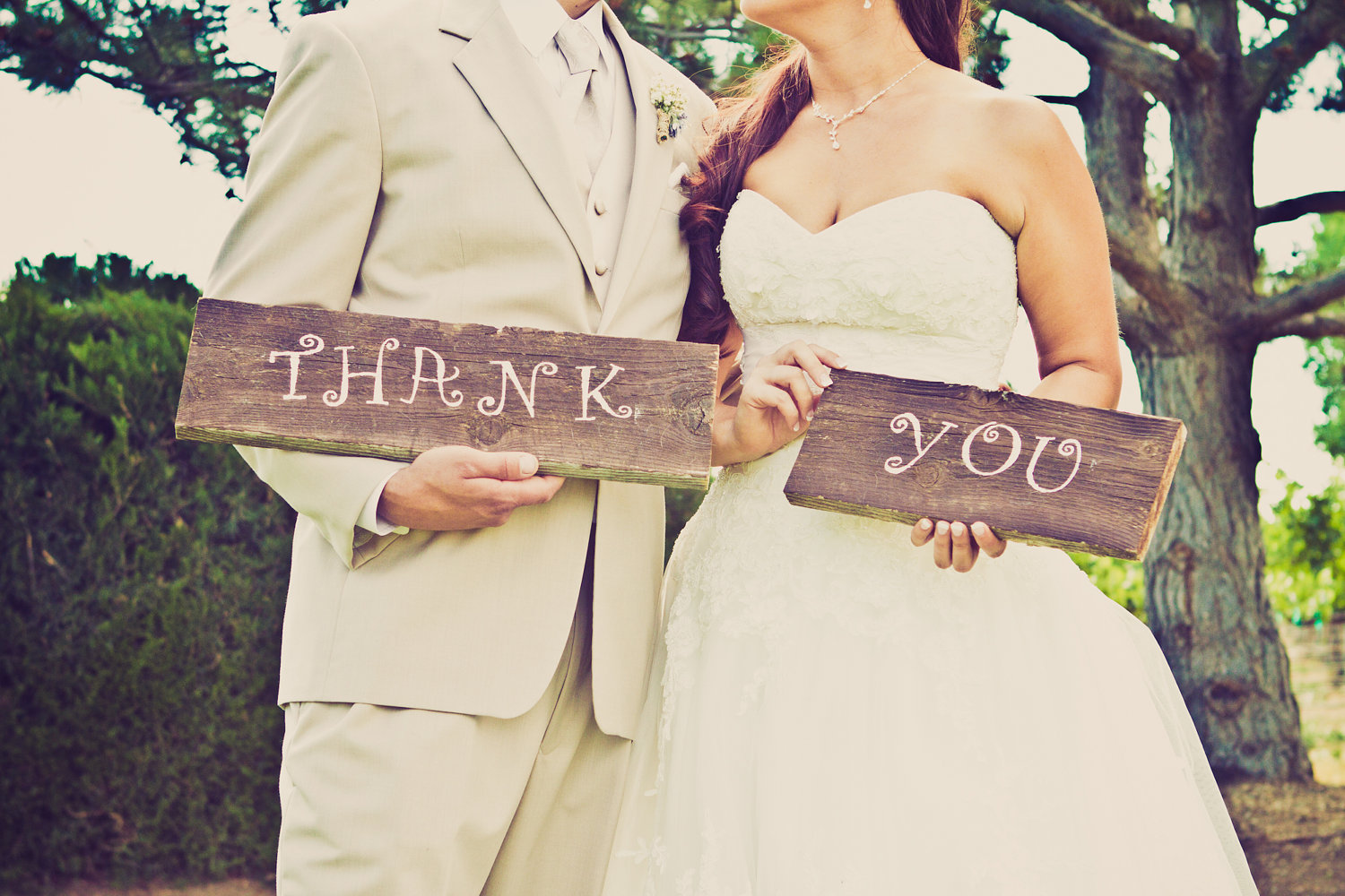 wedding themes and ideas rustic ranch weddings wood signs thank you ...
