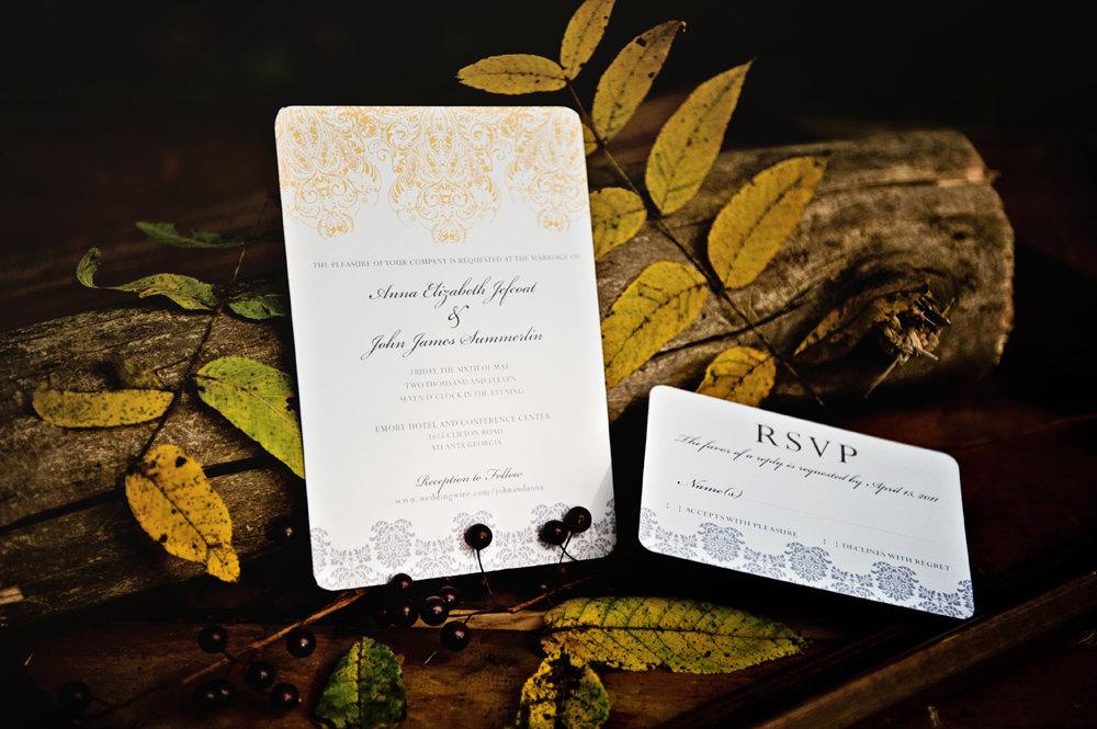 Gilded Wedding Invitations Etsy Weddings Stationery Chic Regency