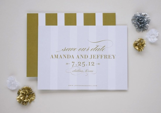 gilded wedding invitations Etsy weddings stationery simple elegant save the date