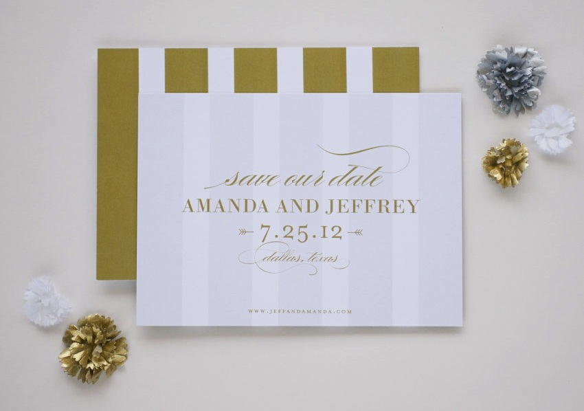 Gilded Wedding Invitations Etsy Weddings Stationery Simple Elegant Save The D