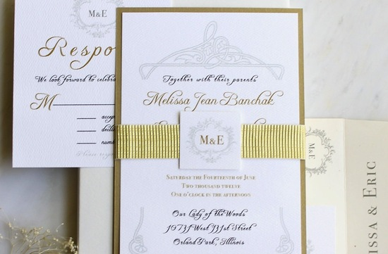 gilded wedding invitations Etsy weddings stationery antique elegance