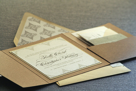 gilded wedding invitations Etsy weddings stationery delicate filigree