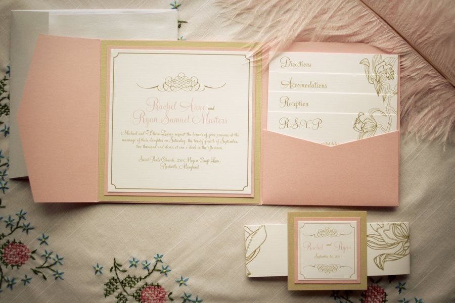 gilded wedding invitations Etsy weddings stationery vintage orchid ...