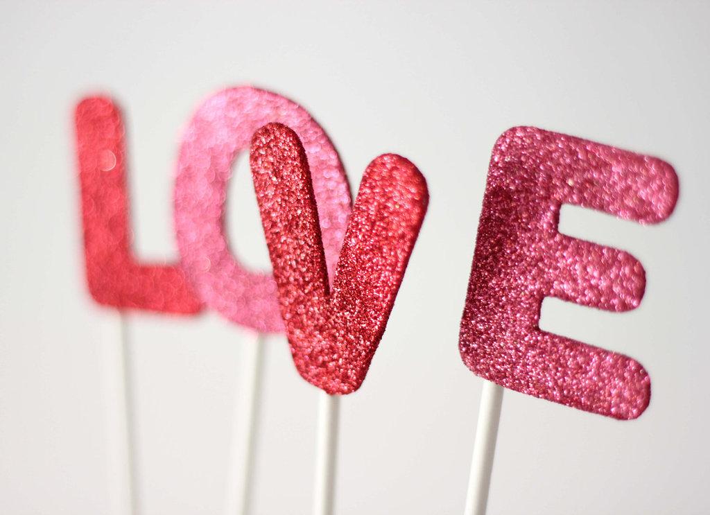 Etsy-weddings-handmade-wedding-decor-stationery-glittered-love-cake-topper.full
