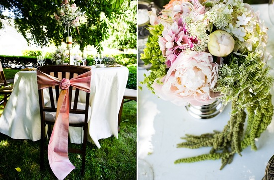 romantic California wedding vintage inspired outdoor reception