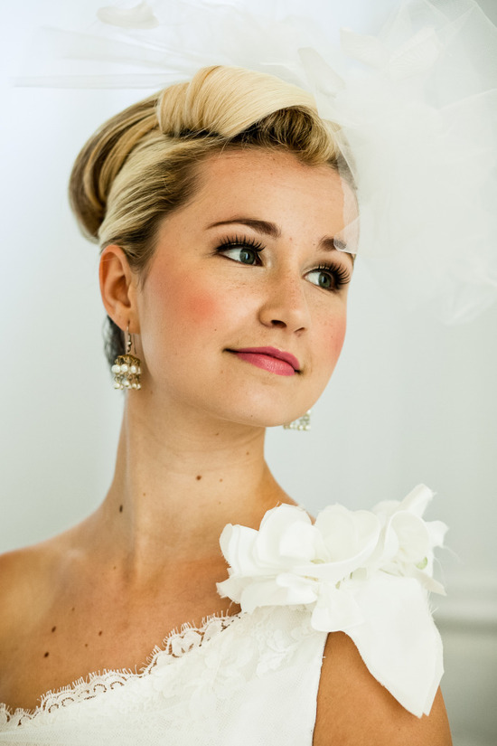 romantic mansion wedding with vintage inspired bride and groom elegant updo