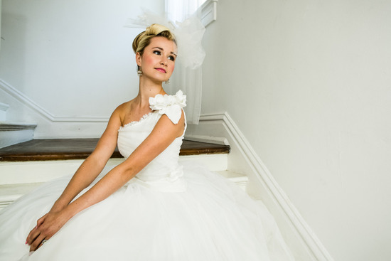 photo of California wedding San Francisco mansion venue elegant bridal inspiration bouquet updo