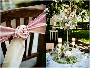photo of California wedding San Francisco mansion venue elegant bridal inspiration reception decor