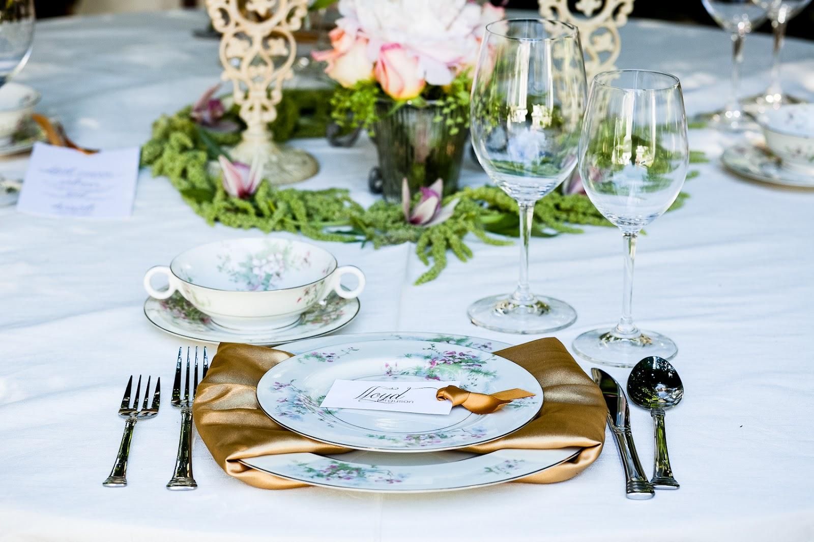 California wedding san francisco mansion venue elegant for Place setting images