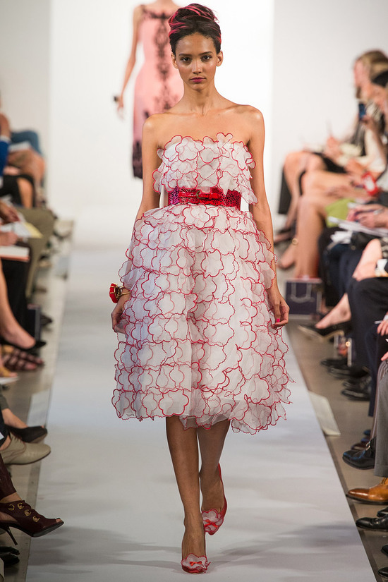 catwalk to white aisle wedding style inspiration for brides New York Fashion Week Oscar de la Renta