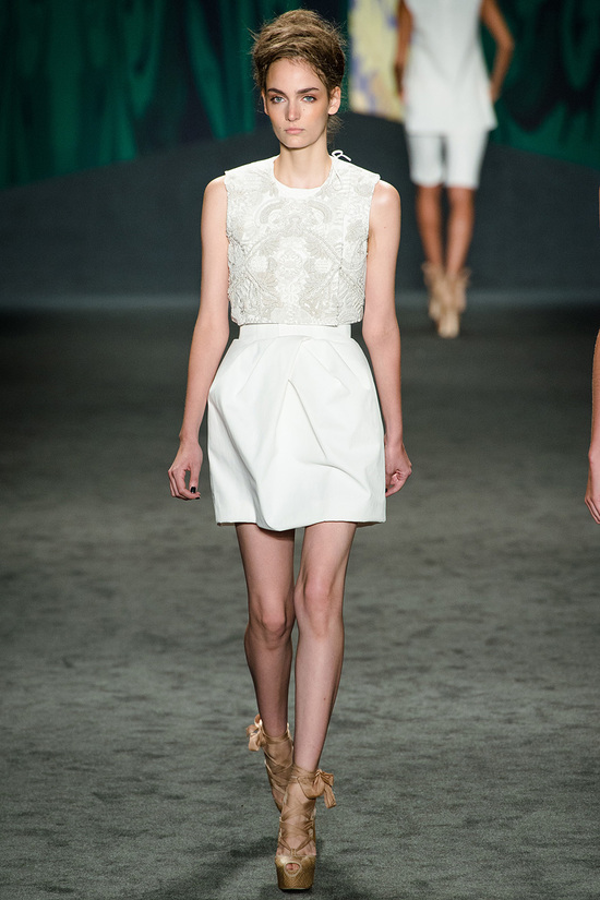 catwalk to white aisle wedding style inspiration for brides New York Fashion Week vera wang 3