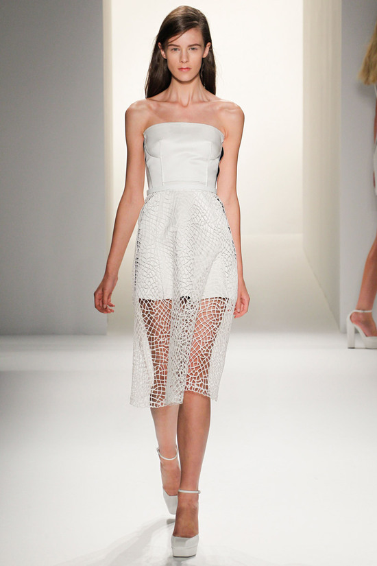 catwalk to white aisle wedding style inspiration for brides New York Fashion Week Calvin Klein 1