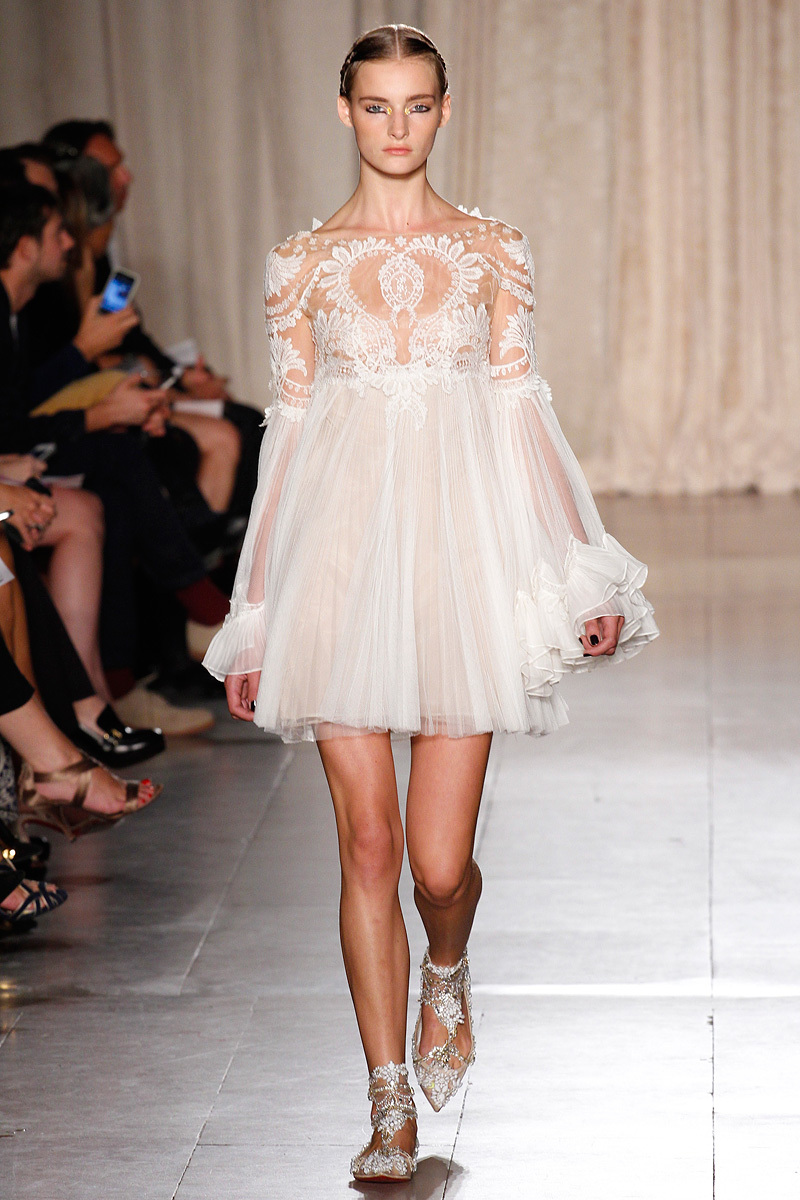 catwalk to white aisle wedding style inspiration for brides New York Fashion Week marchesa 5