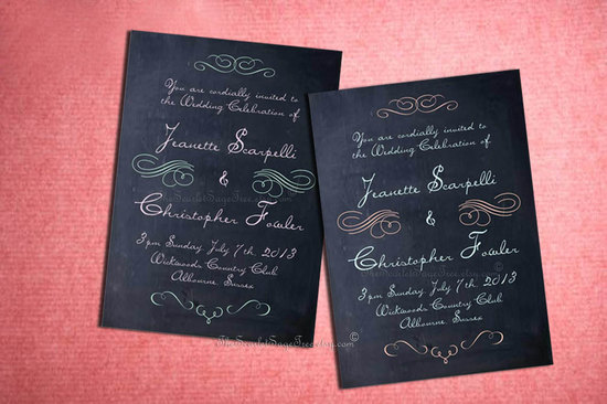 budget wedding ideas DIY invitations Etsy weddings chalkboard printable
