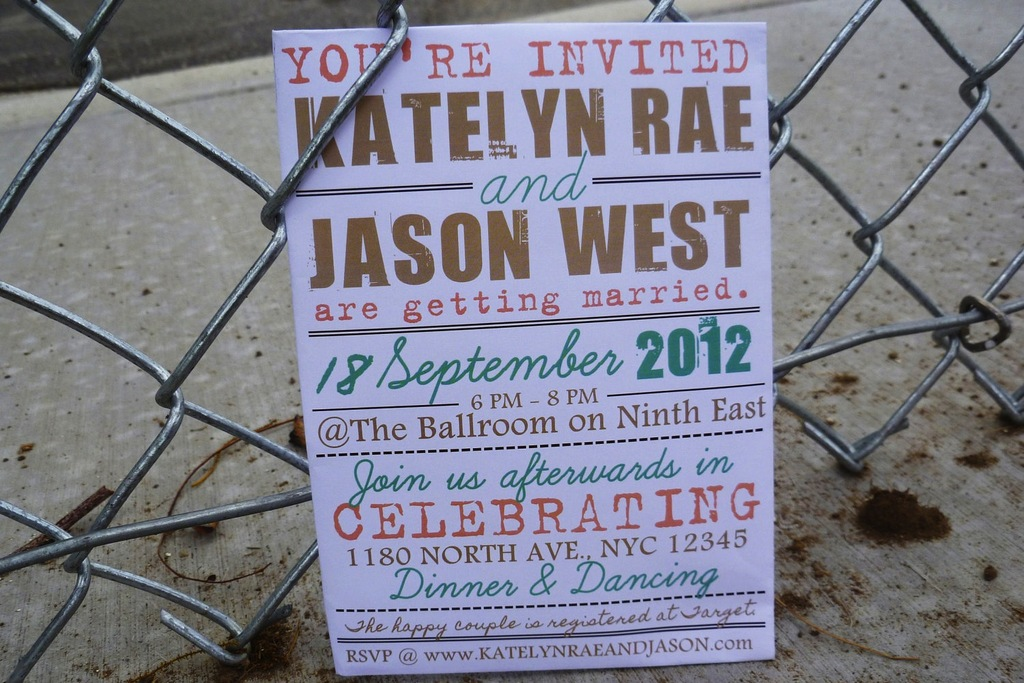 budget wedding ideas DIY invitations Etsy weddings 1950s modern gold ...