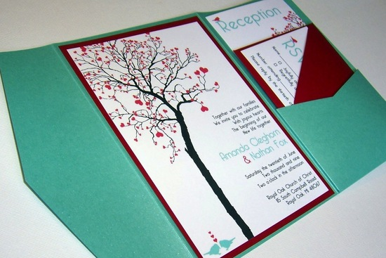 budget wedding ideas DIY invitations Etsy weddings teal red