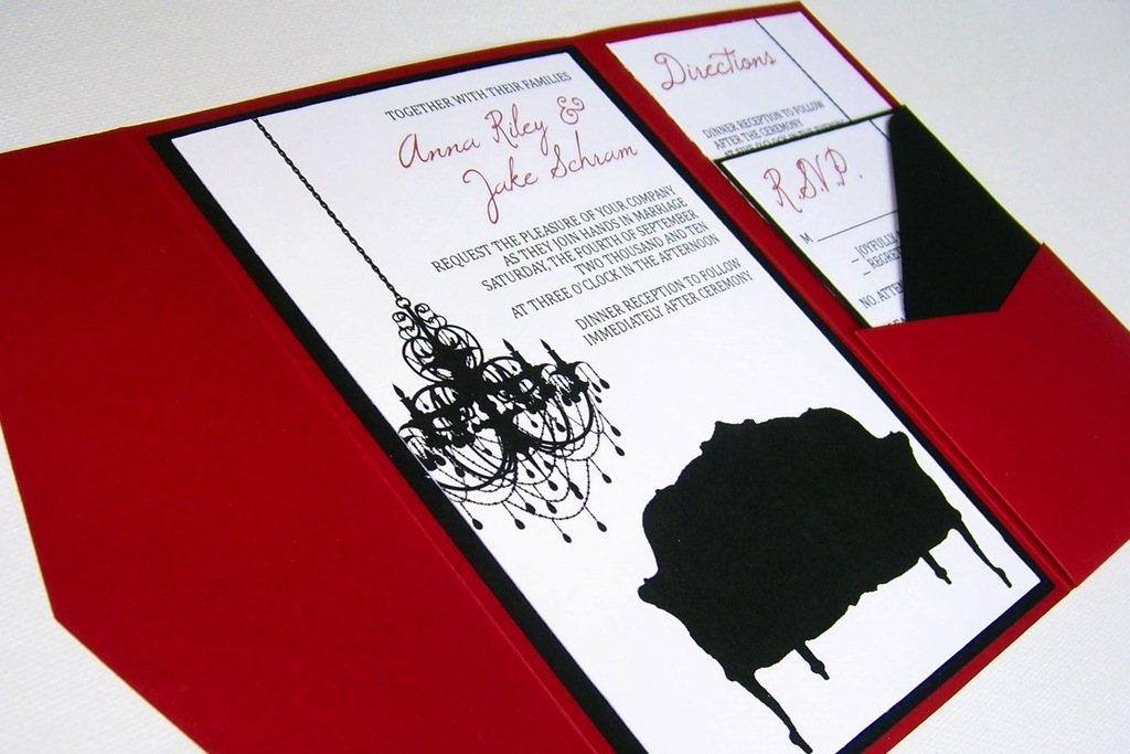budget wedding ideas DIY invitations Etsy weddings black white art – Black Red White Wedding Invitations