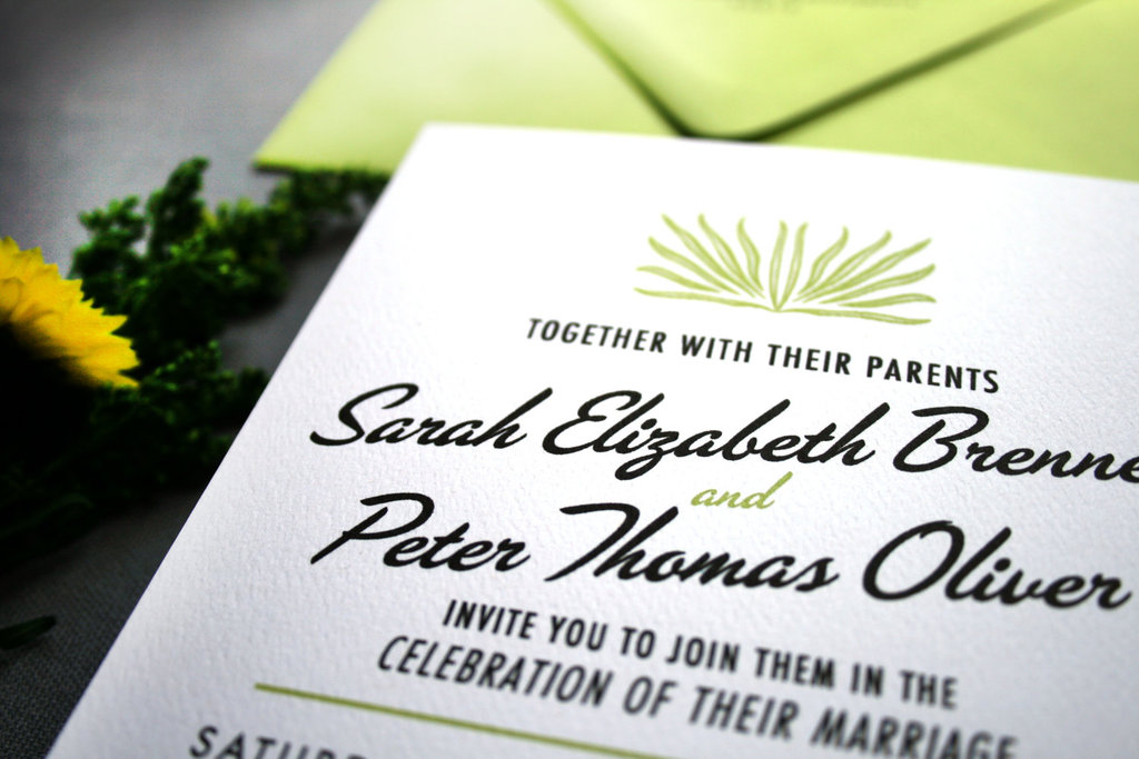 budget wedding ideas DIY invitations Etsy weddings lime green black whtie