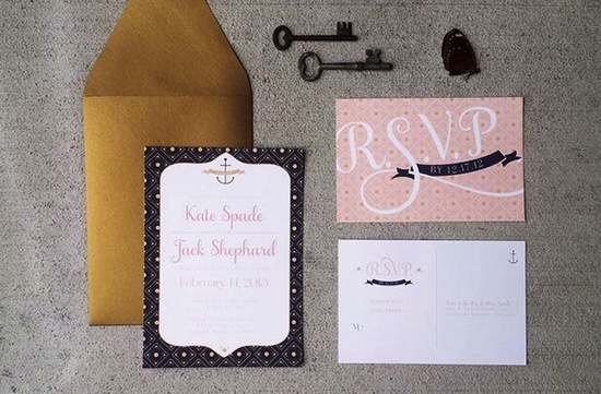 budget wedding ideas DIY invitations Etsy weddings gold coral black