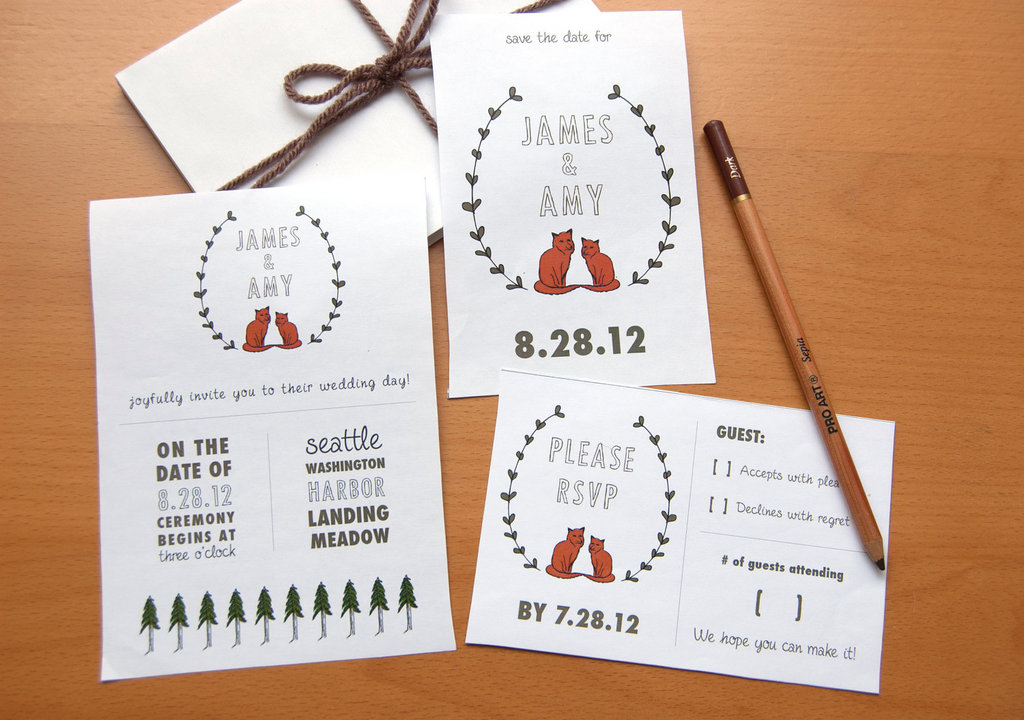 wedding ideas DIY invitations Etsy weddings sweet rustic