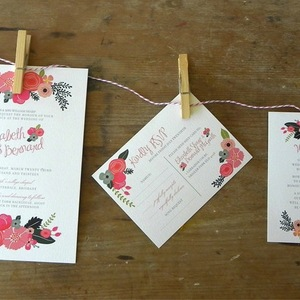 Budget Wedding Ideas DIY Invitations Etsy Weddings Romantic Floral
