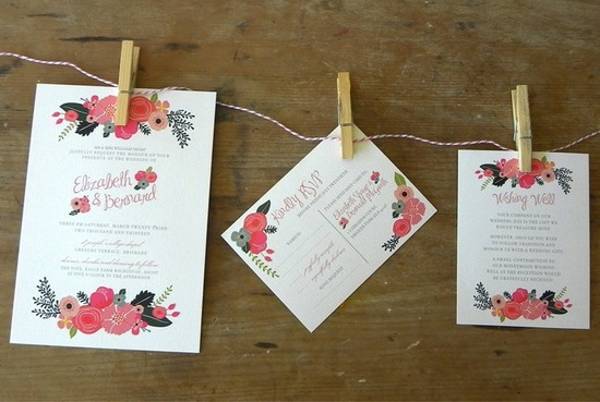 budget wedding ideas DIY invitations Etsy weddings floral